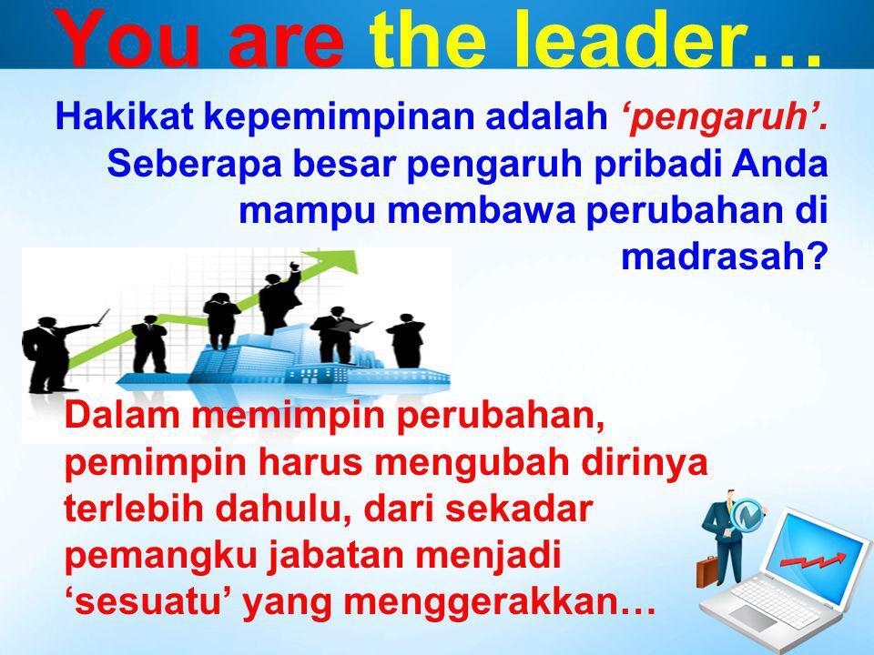 You are the leader… Hakikat kepemimpinan adalah 'pengaruh'.