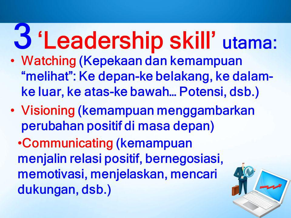 3 'Leadership skill' utama: