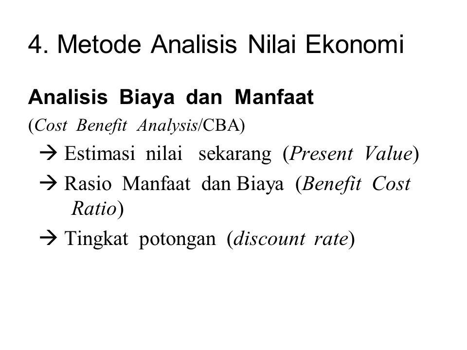 4. Metode Analisis Nilai Ekonomi