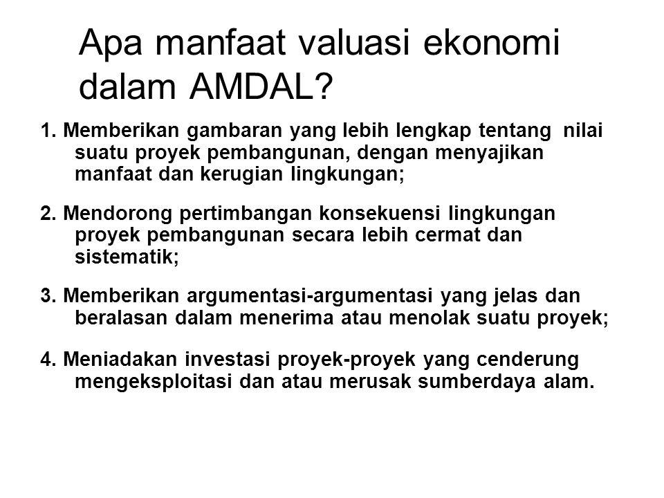Apa manfaat valuasi ekonomi dalam AMDAL