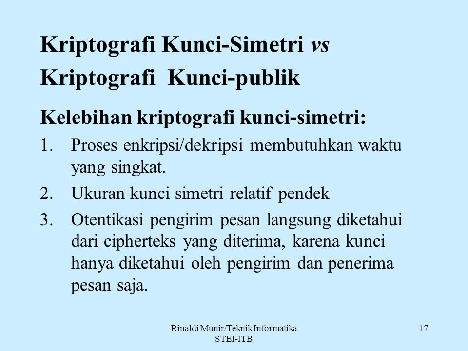 Kriptografi Kunci-Simetri vs Kriptografi Kunci-publik
