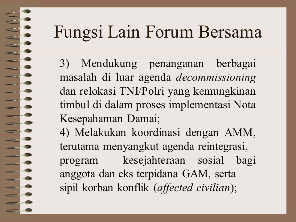 Fungsi Lain Forum Bersama