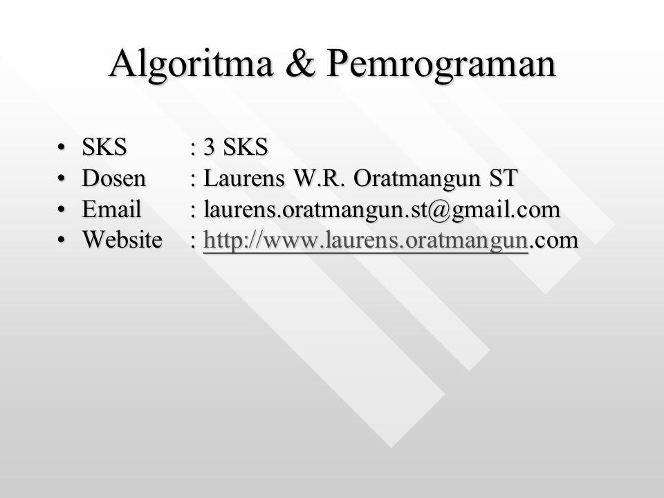 Algoritma & Pemrograman