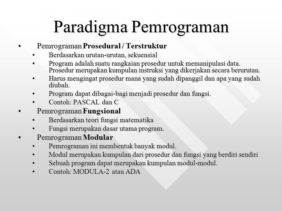 Paradigma Pemrograman
