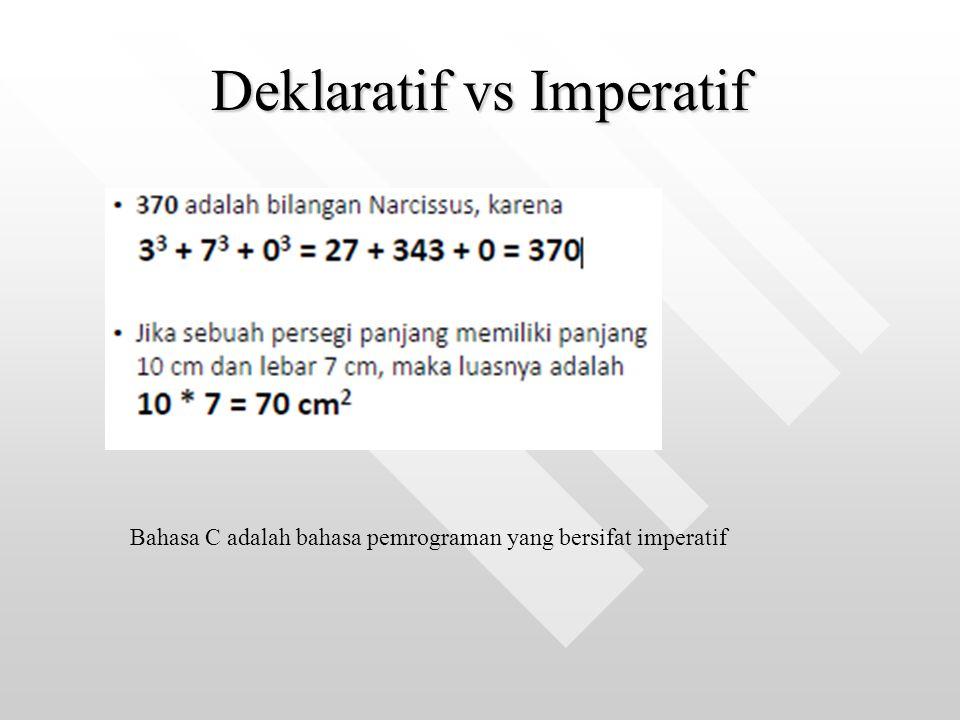 Deklaratif vs Imperatif