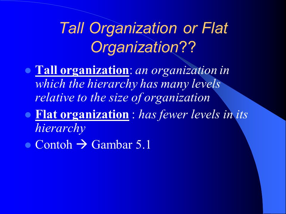 Tall Organization or Flat Organization