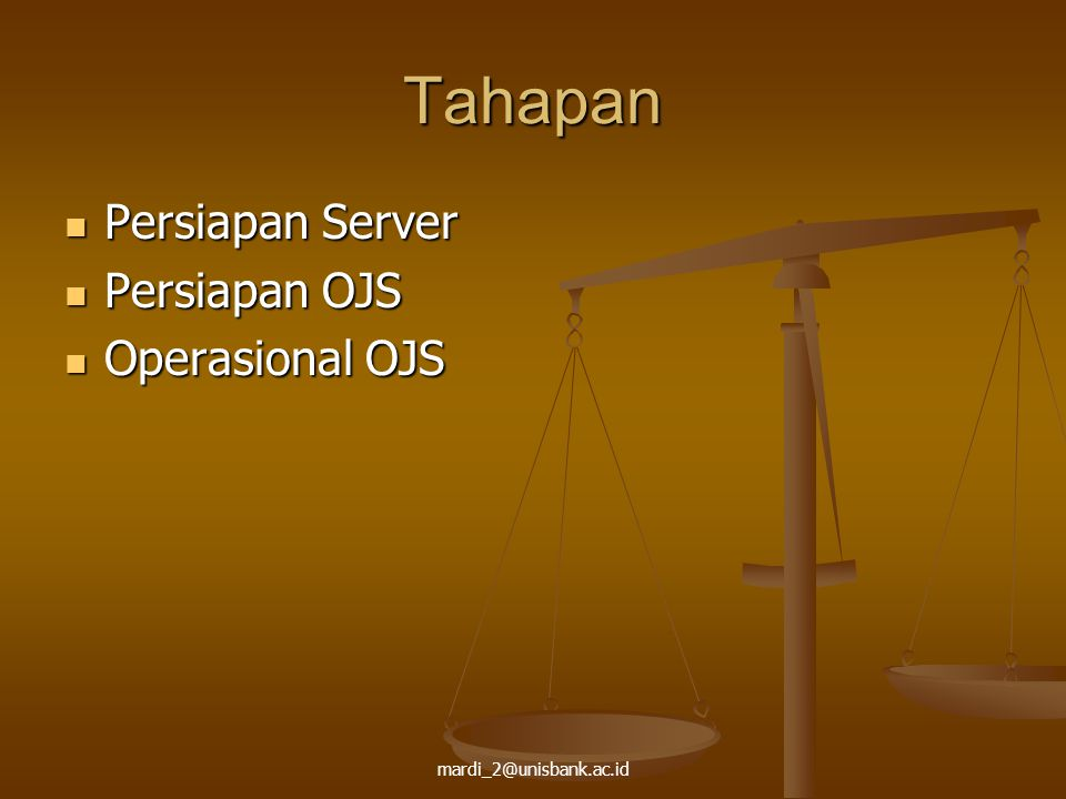 Tahapan Persiapan Server Persiapan OJS Operasional OJS