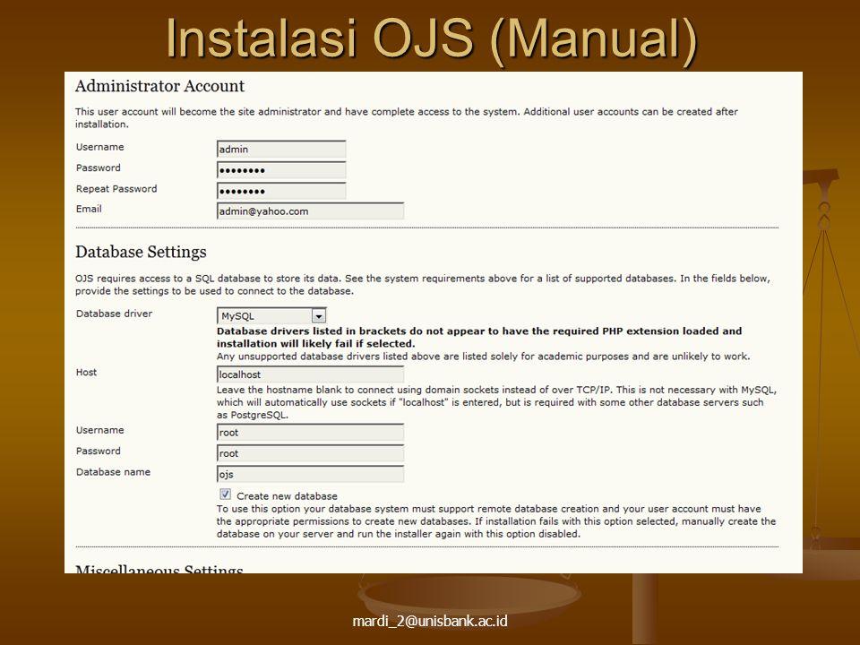 Instalasi OJS (Manual)