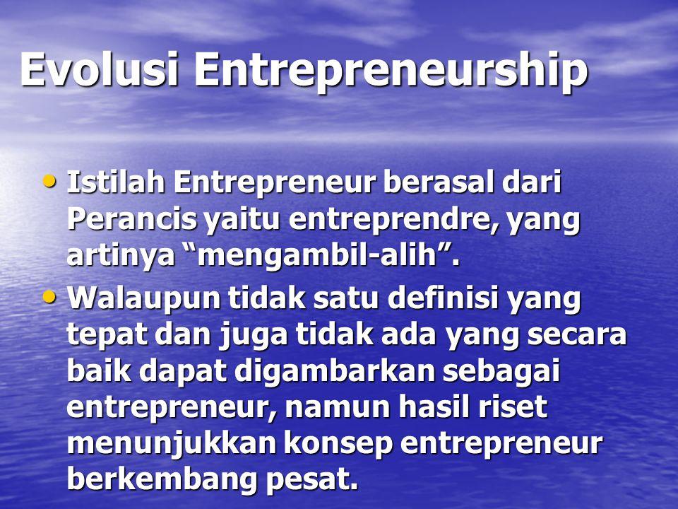Evolusi Entrepreneurship