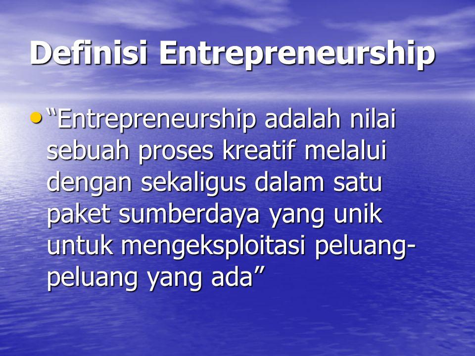 Definisi Entrepreneurship