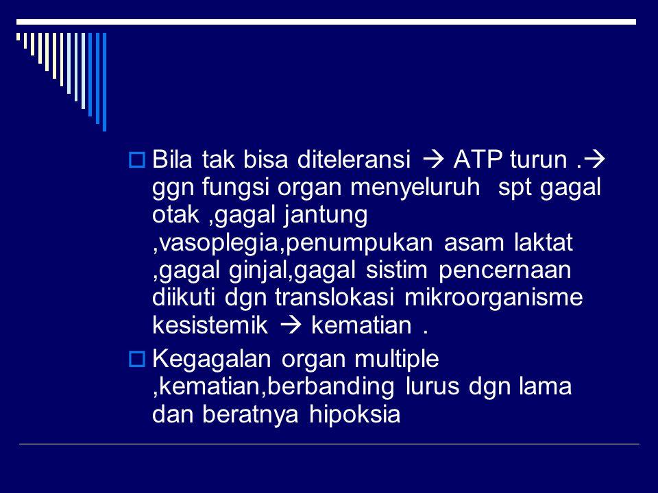 Bila tak bisa diteleransi  ATP turun