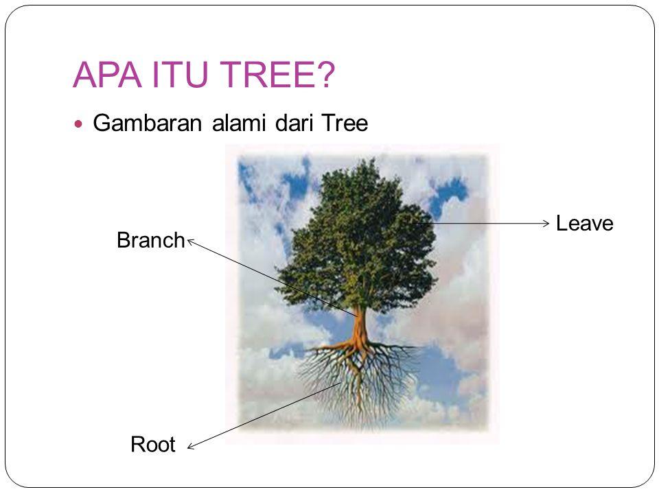 APA ITU TREE Gambaran alami dari Tree Leave Branch Root