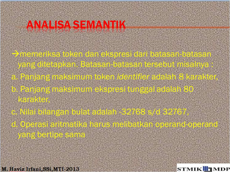 ANALISA Semantik
