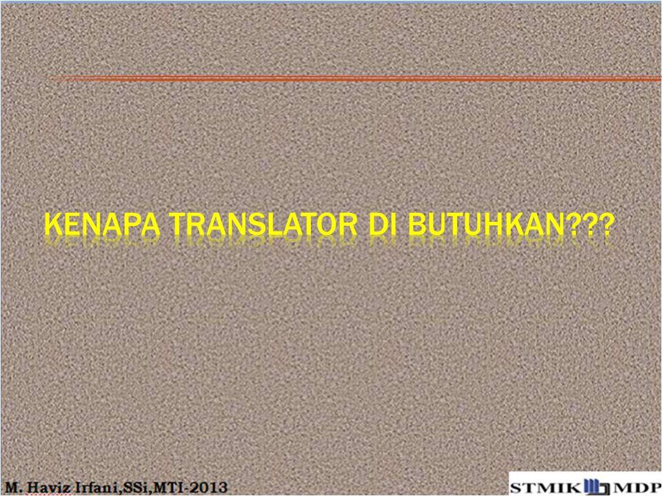 Kenapa Translator di Butuhkan