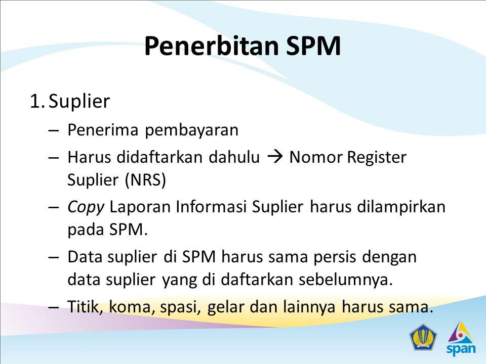 Penerbitan SPM Suplier Penerima pembayaran
