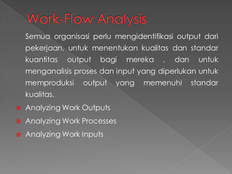 Work-Flow Analysis