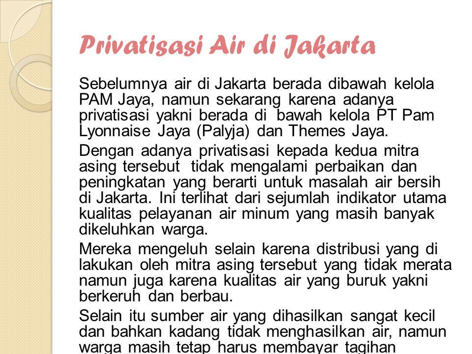 Privatisasi Air di Jakarta