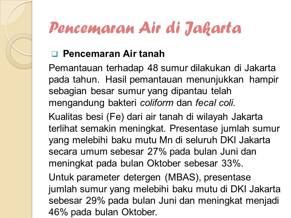 Pencemaran Air di Jakarta