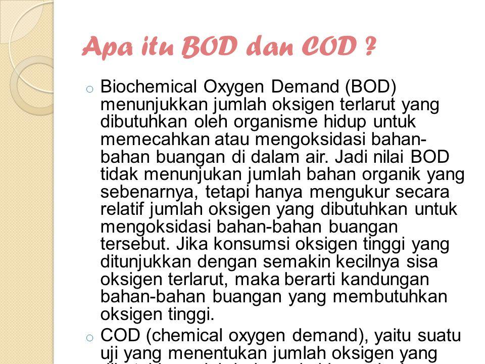 Apa itu BOD dan COD