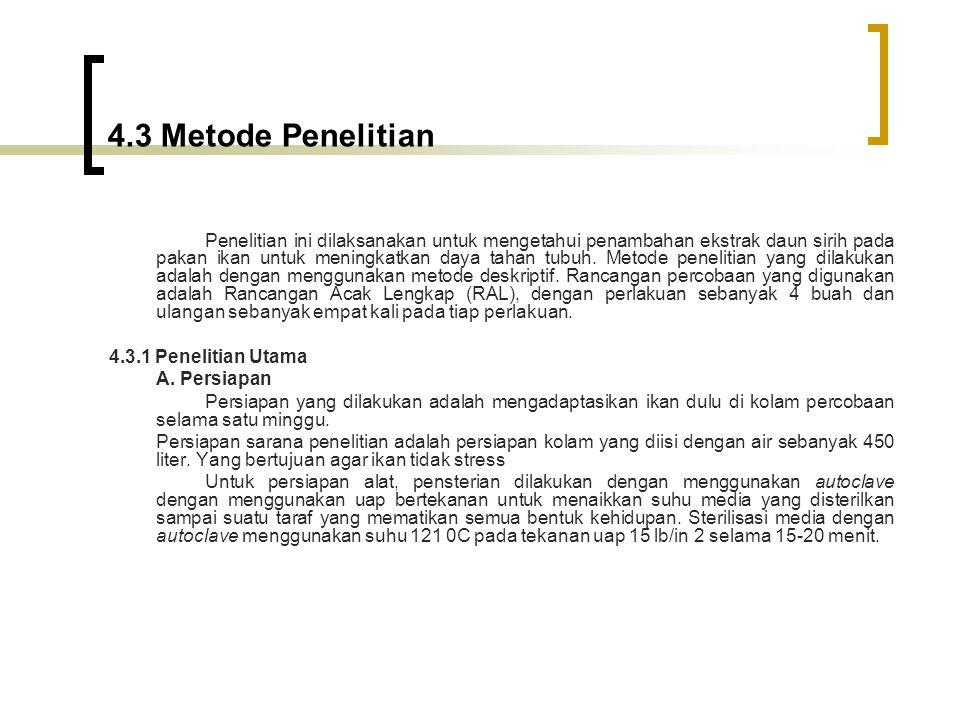 4.3 Metode Penelitian 4.3.1 Penelitian Utama A. Persiapan