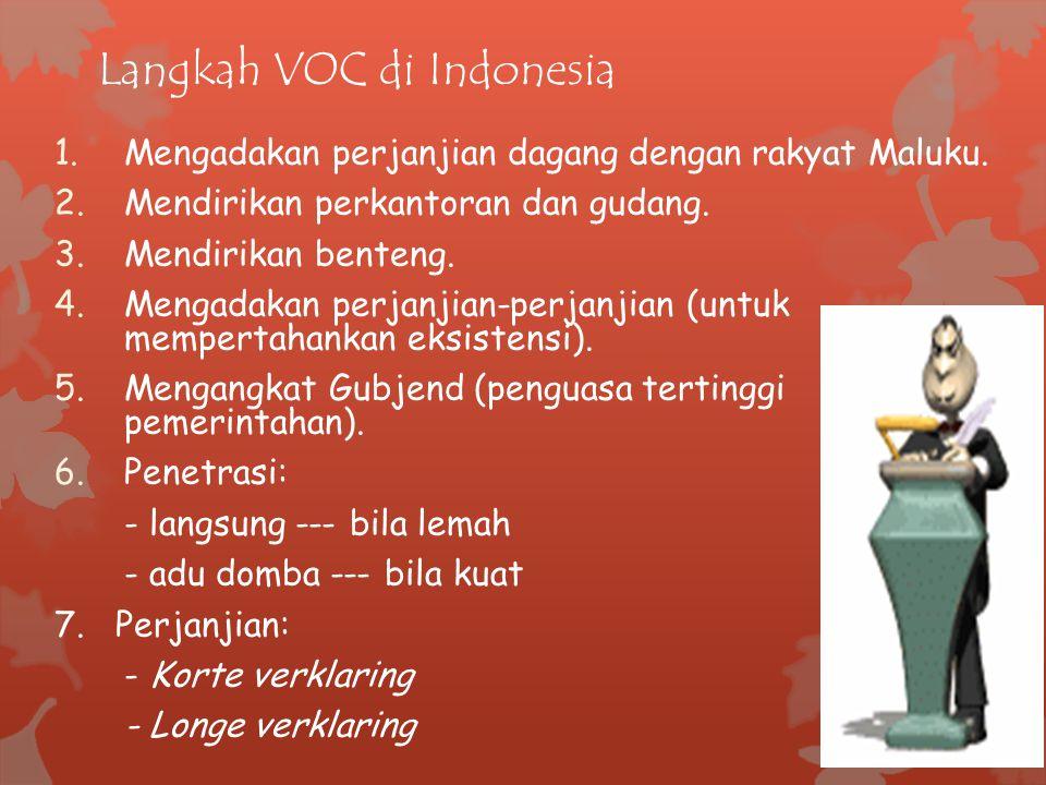 Langkah VOC di Indonesia