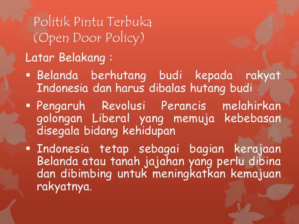 Politik Pintu Terbuka (Open Door Policy)