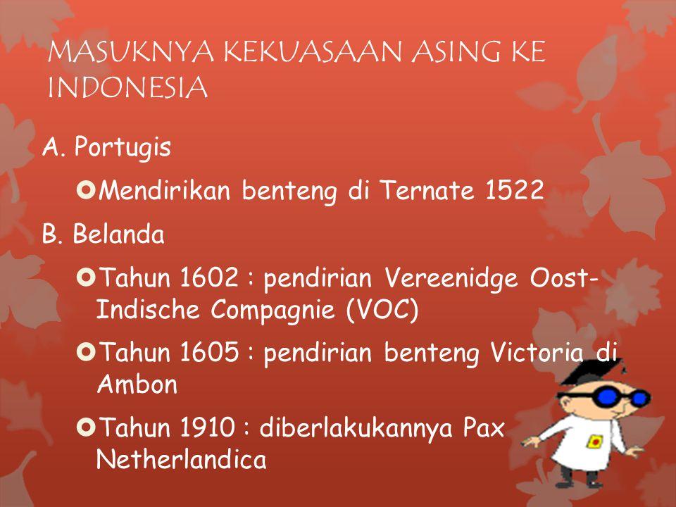MASUKNYA KEKUASAAN ASING KE INDONESIA