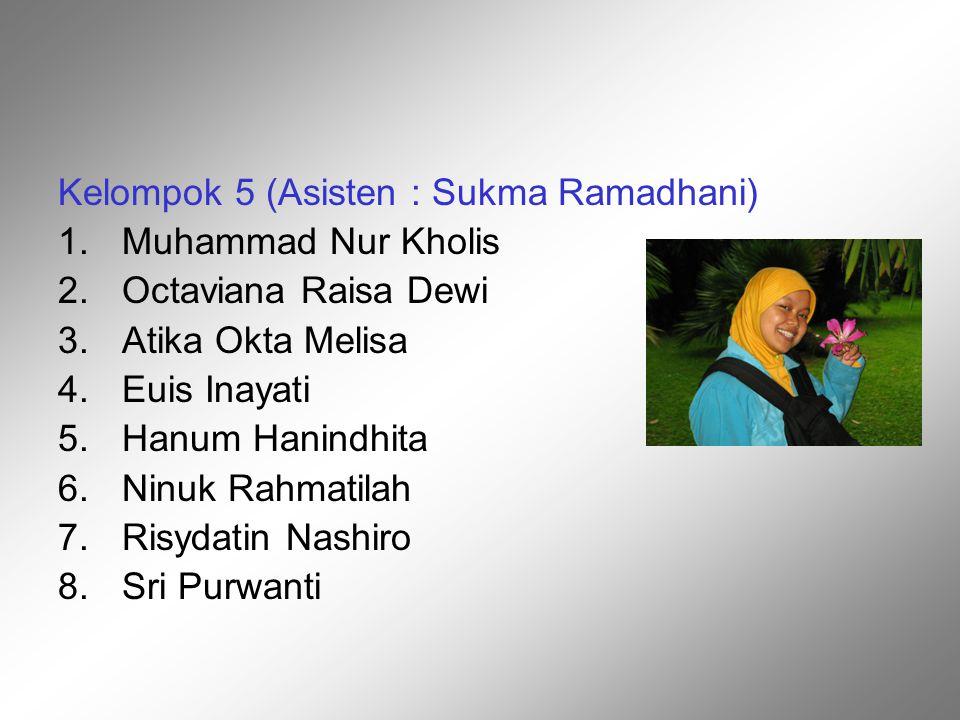 Kelompok 5 (Asisten : Sukma Ramadhani)