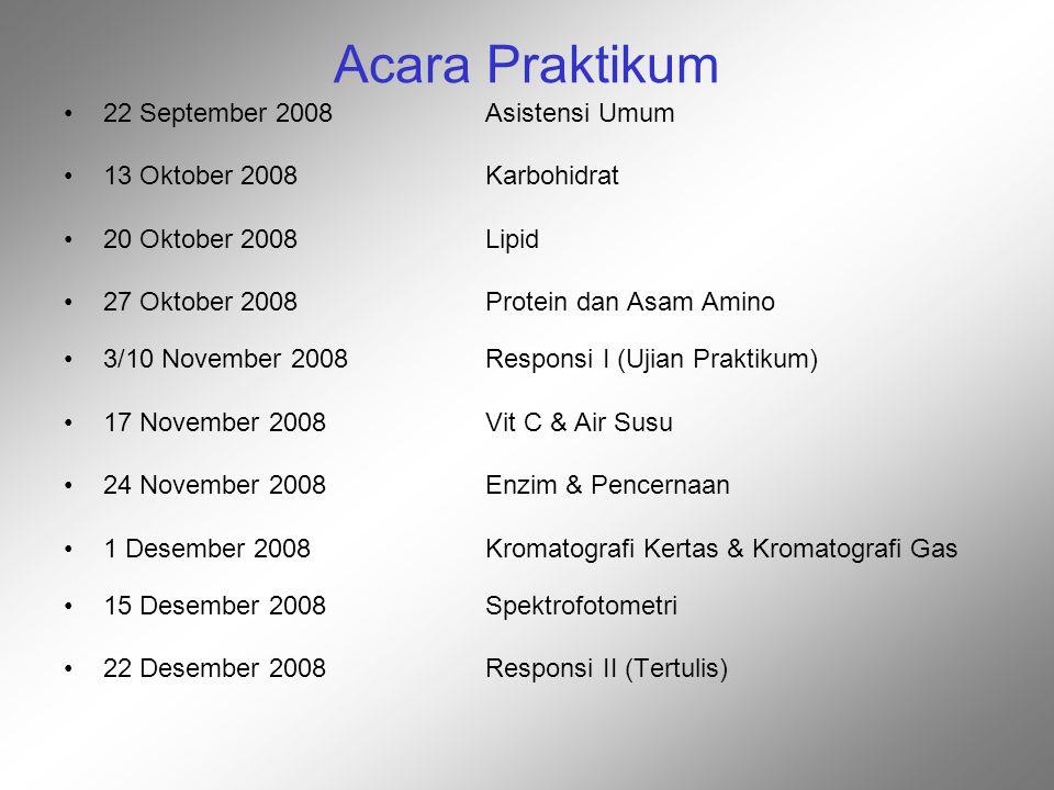 Acara Praktikum 22 September 2008 Asistensi Umum