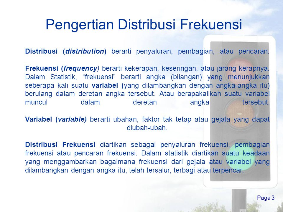 Pengertian Distribusi Frekuensi