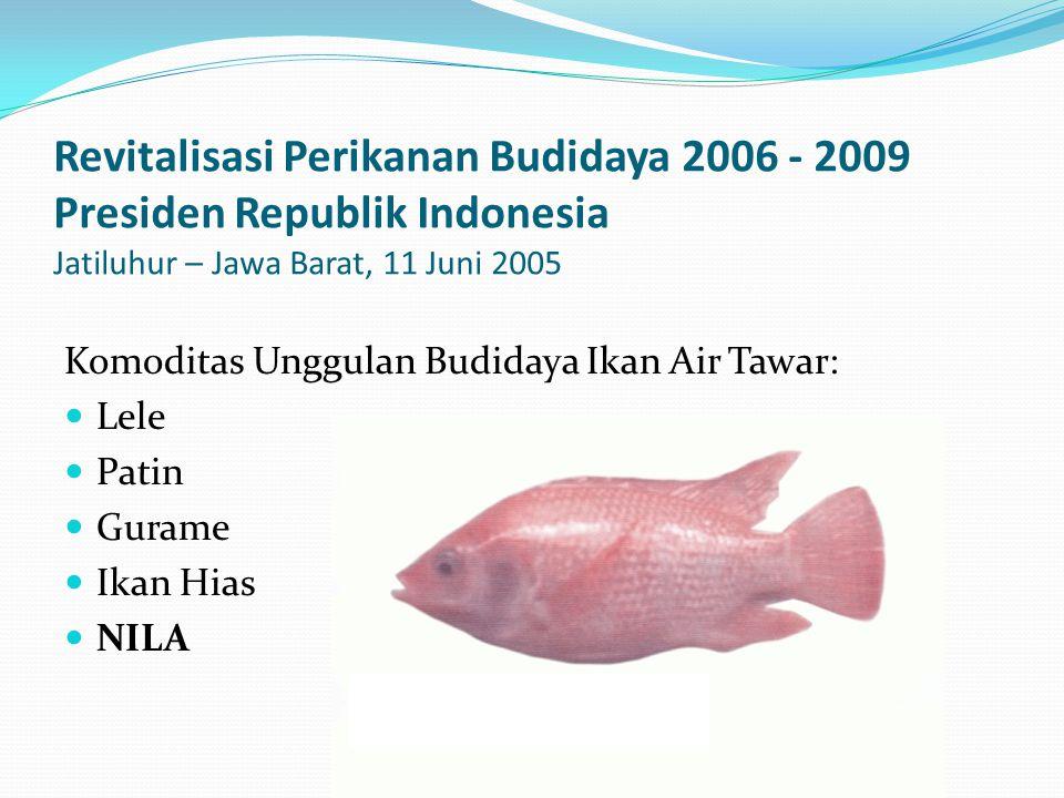 Revitalisasi Perikanan Budidaya 2006 - 2009 Presiden Republik Indonesia Jatiluhur – Jawa Barat, 11 Juni 2005