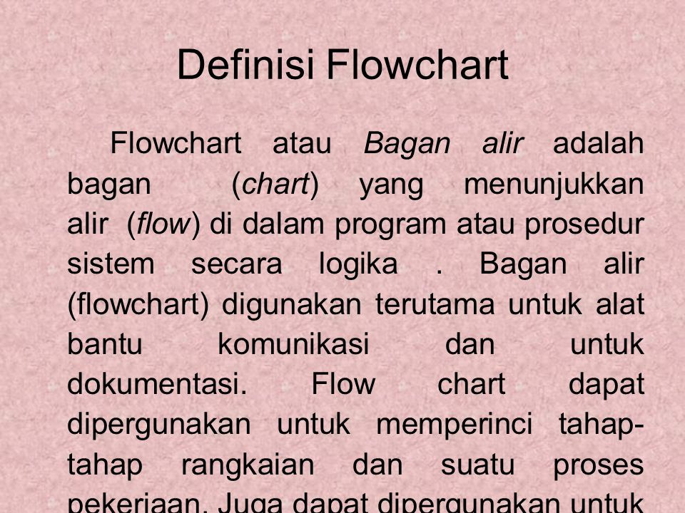 Definisi Flowchart