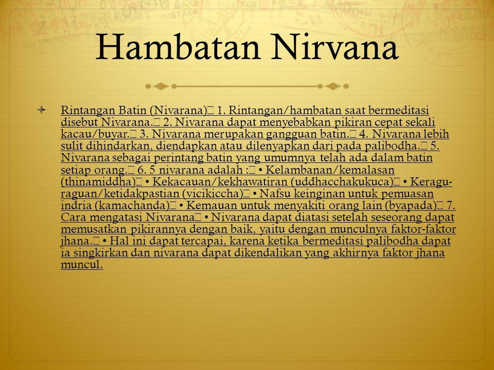 Hambatan Nirvana