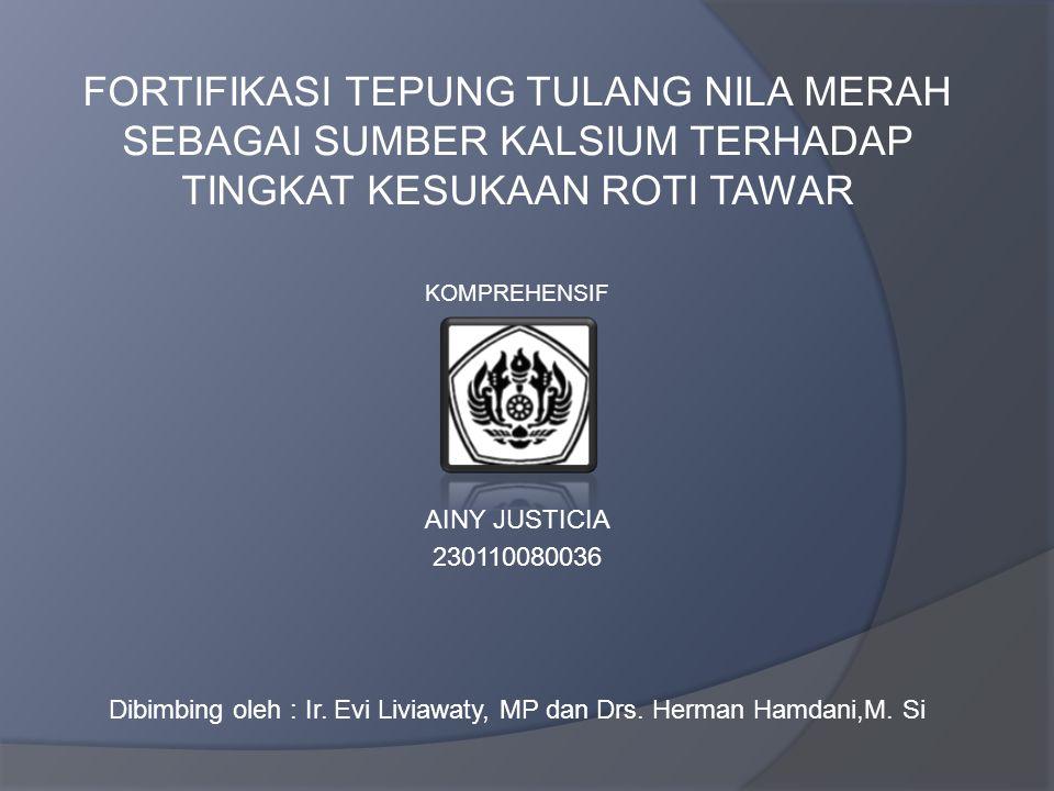 Dibimbing oleh : Ir. Evi Liviawaty, MP dan Drs. Herman Hamdani,M. Si