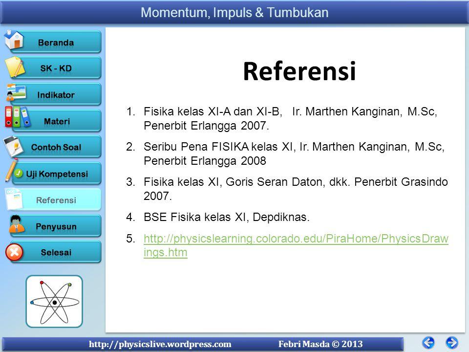 Referensi Fisika kelas XI-A dan XI-B, Ir. Marthen Kanginan, M.Sc, Penerbit Erlangga 2007.