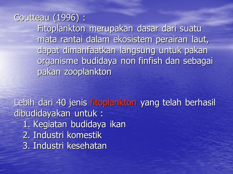 Coutteau (1996) :. Fitoplankton merupakan dasar dari suatu