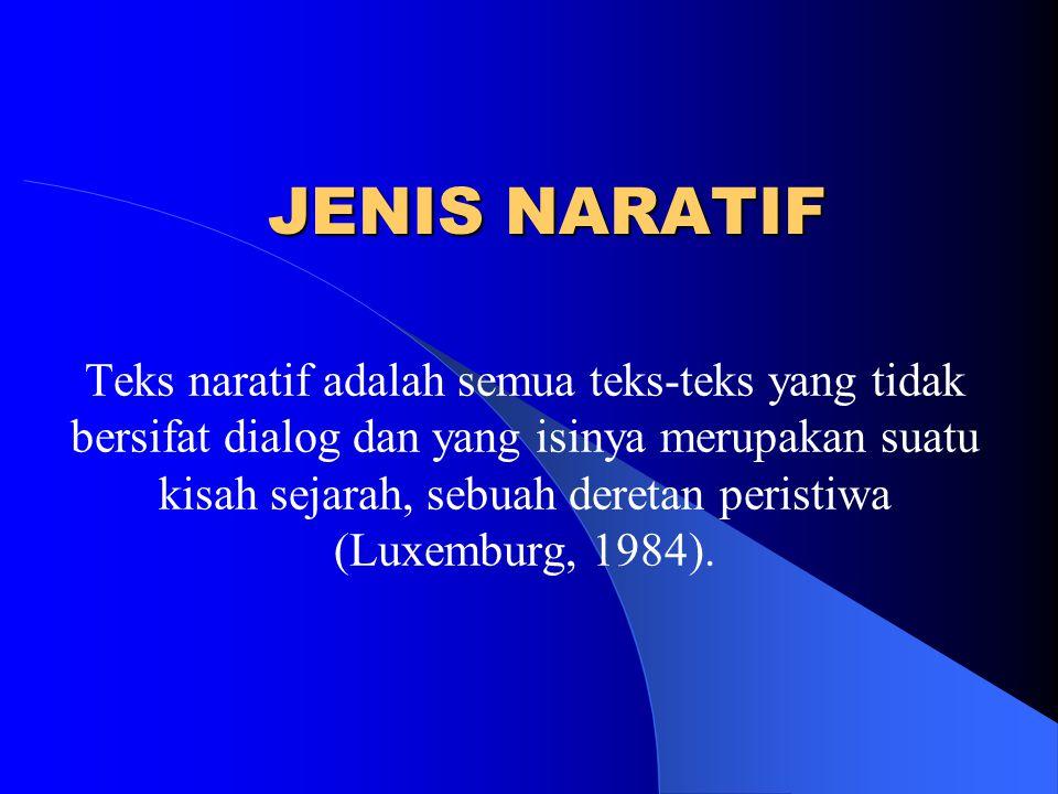 JENIS NARATIF