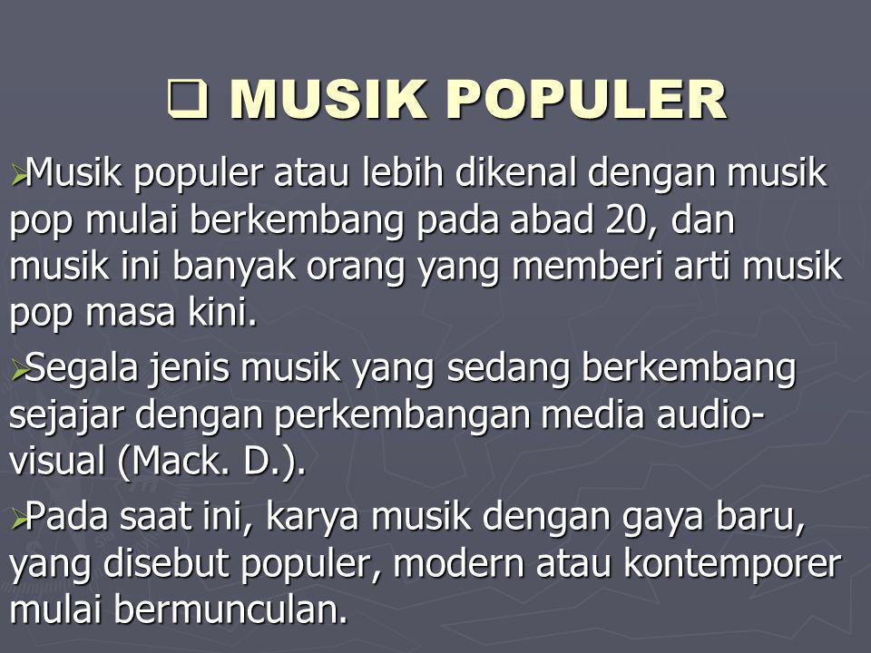 MUSIK POPULER