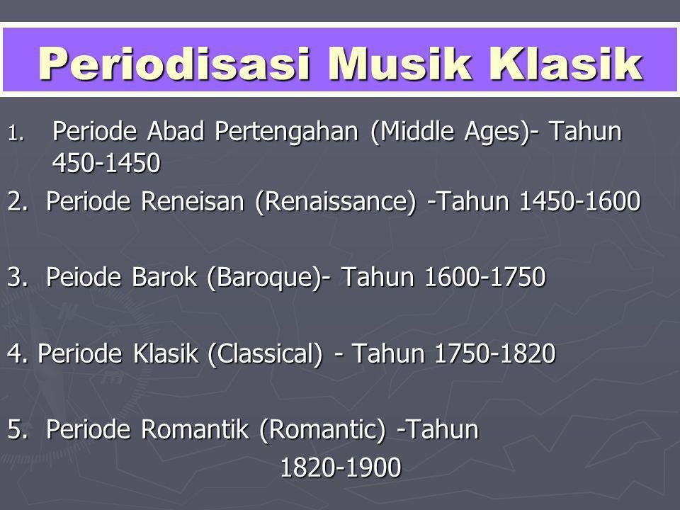 Periodisasi Musik Klasik