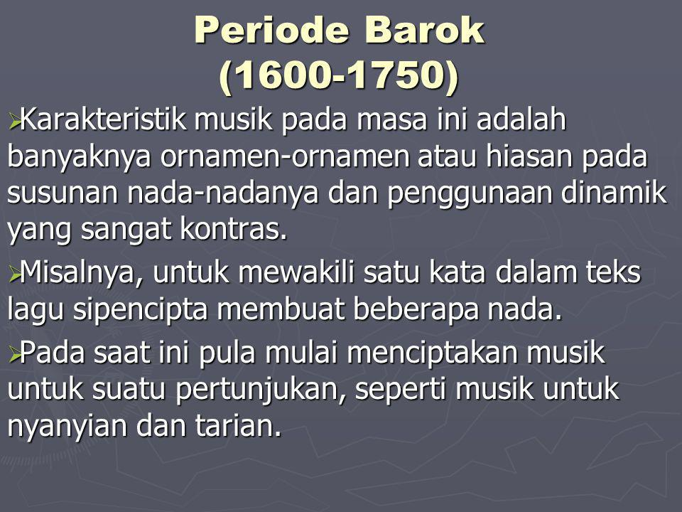 Periode Barok (1600-1750)