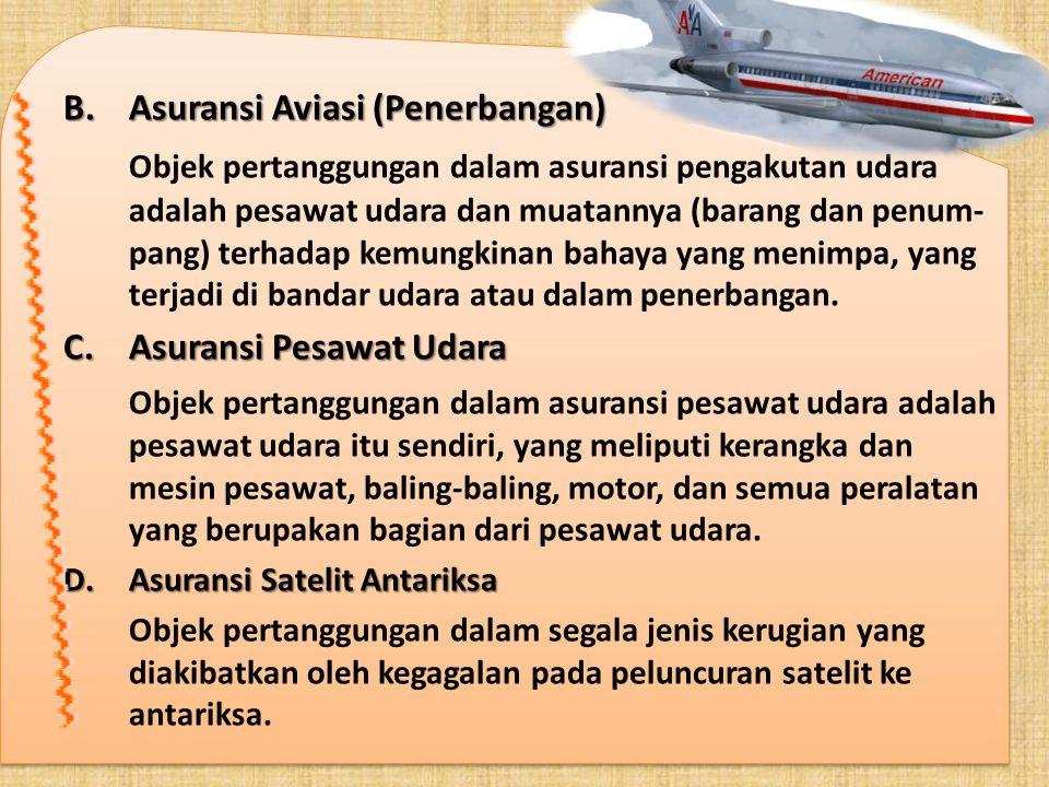 Asuransi Aviasi (Penerbangan)