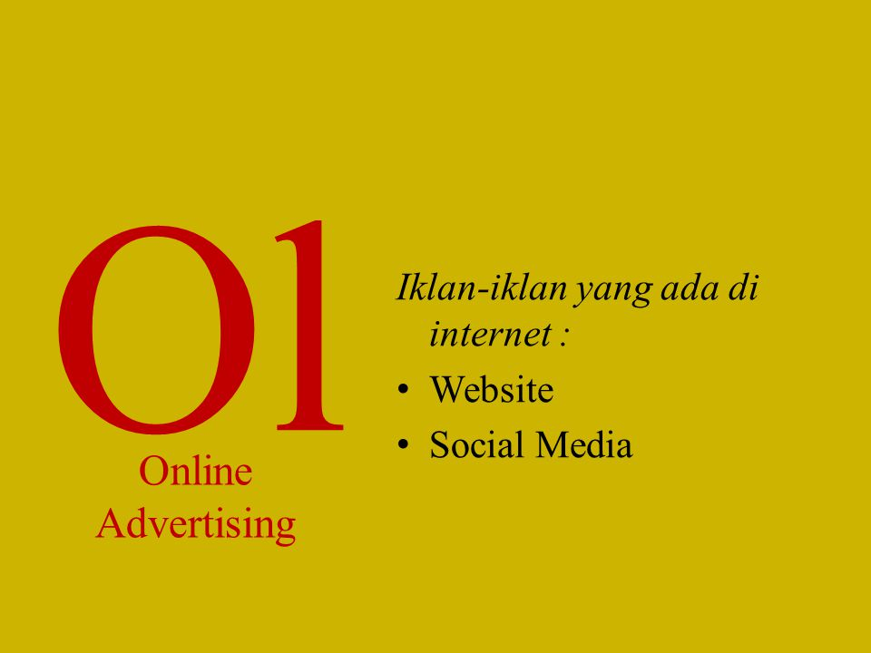 Ol Online Advertising Iklan-iklan yang ada di internet : Website