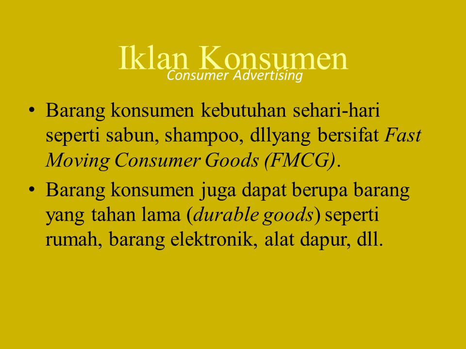 Iklan Konsumen Consumer Advertising.