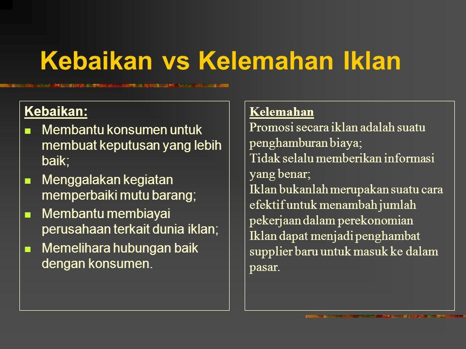 Kebaikan vs Kelemahan Iklan