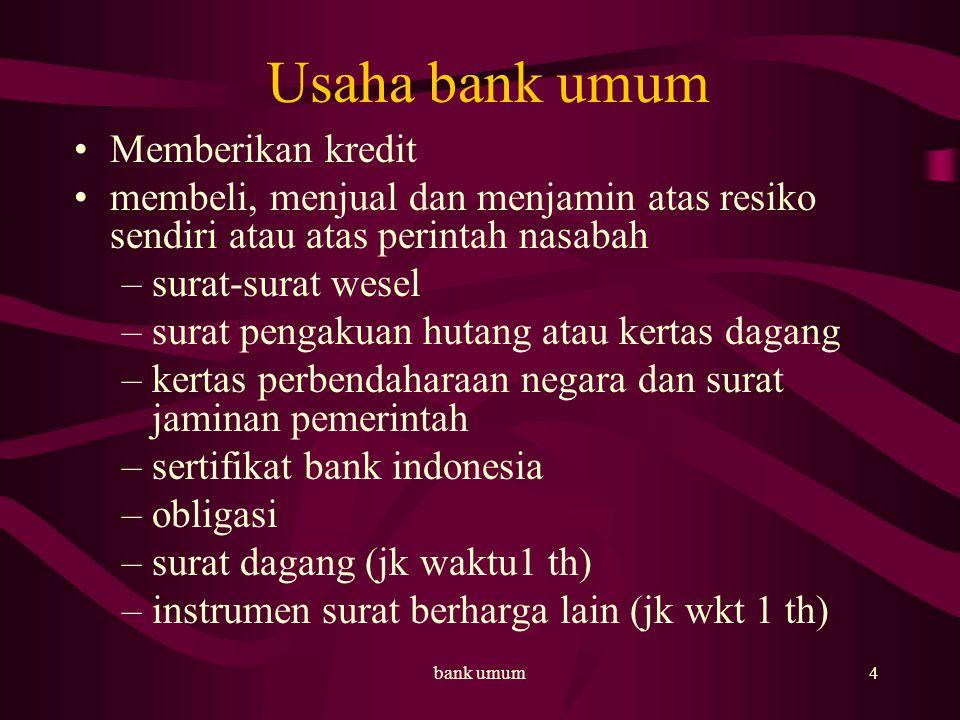 Usaha bank umum Memberikan kredit