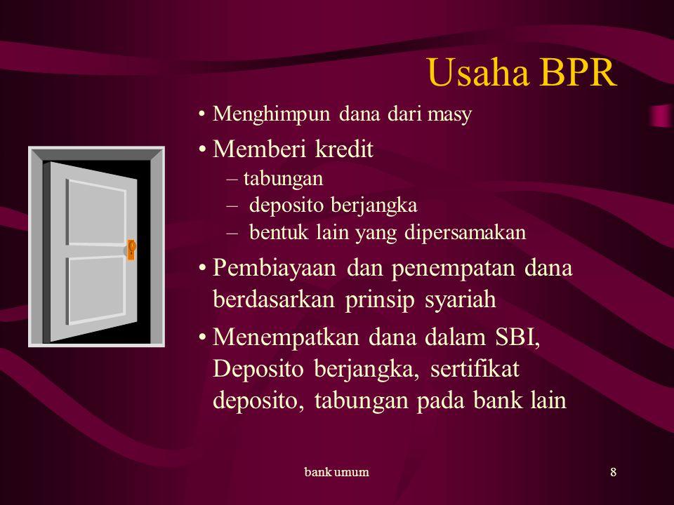 Usaha BPR Memberi kredit