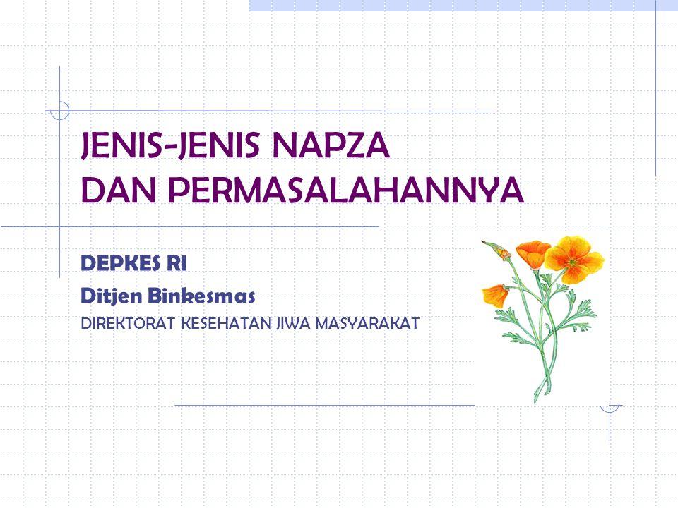JENIS-JENIS NAPZA DAN PERMASALAHANNYA