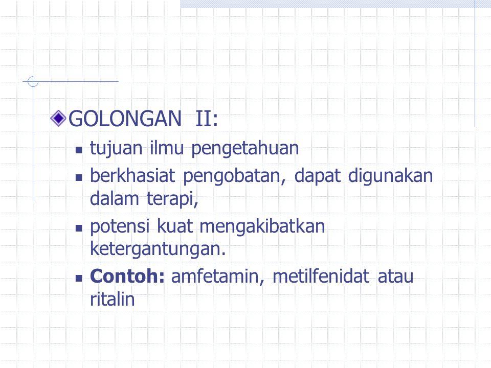 GOLONGAN II: tujuan ilmu pengetahuan