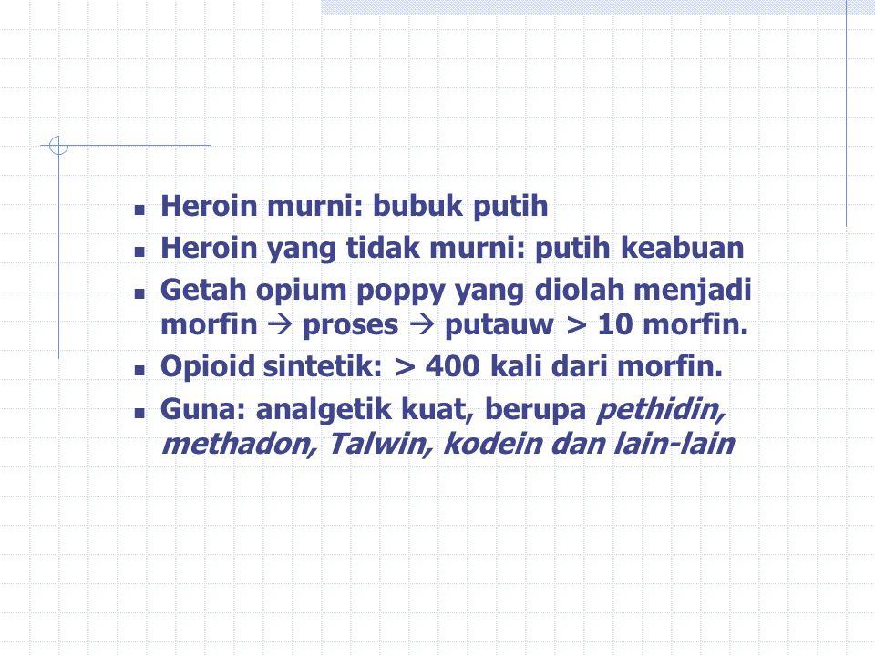 Heroin murni: bubuk putih