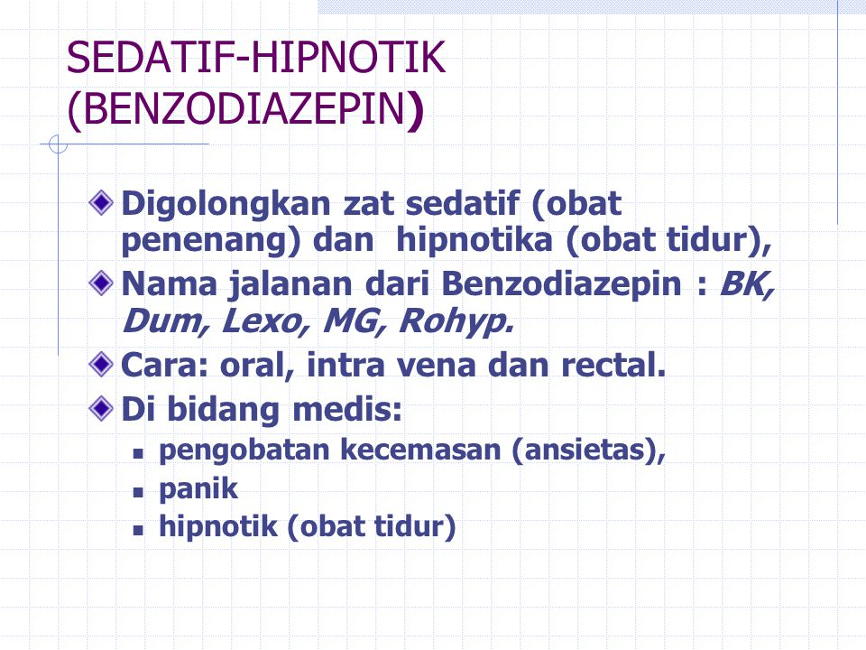 SEDATIF-HIPNOTIK (BENZODIAZEPIN)